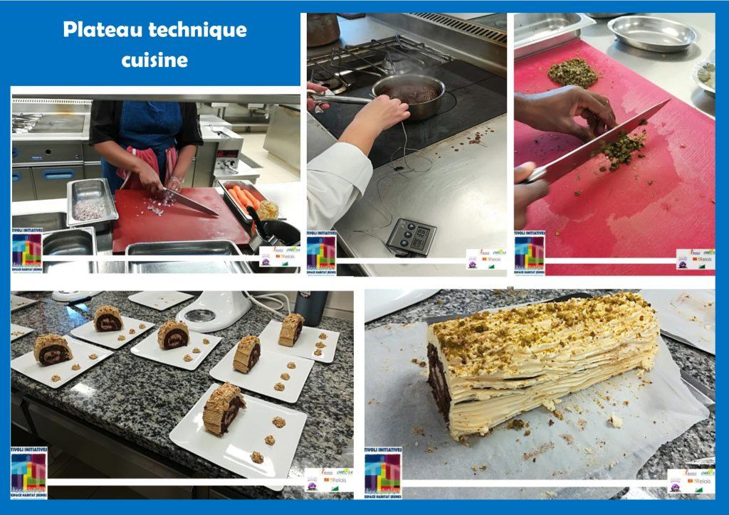 Plateau technique Cuisine Prépa Apprentissage Tivoli Initiatives