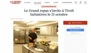le grand repas tivoli initiatives restaurant menu Julie LEGROS cuisinier Bourges